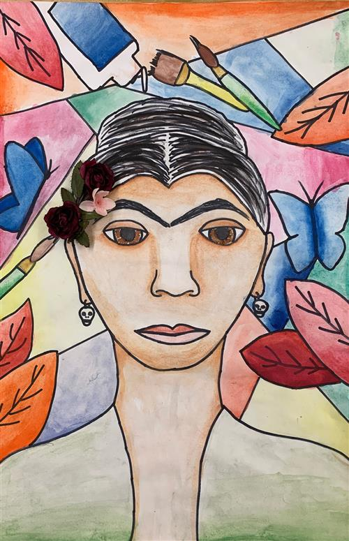 Frida Kahlo portrait - 5th