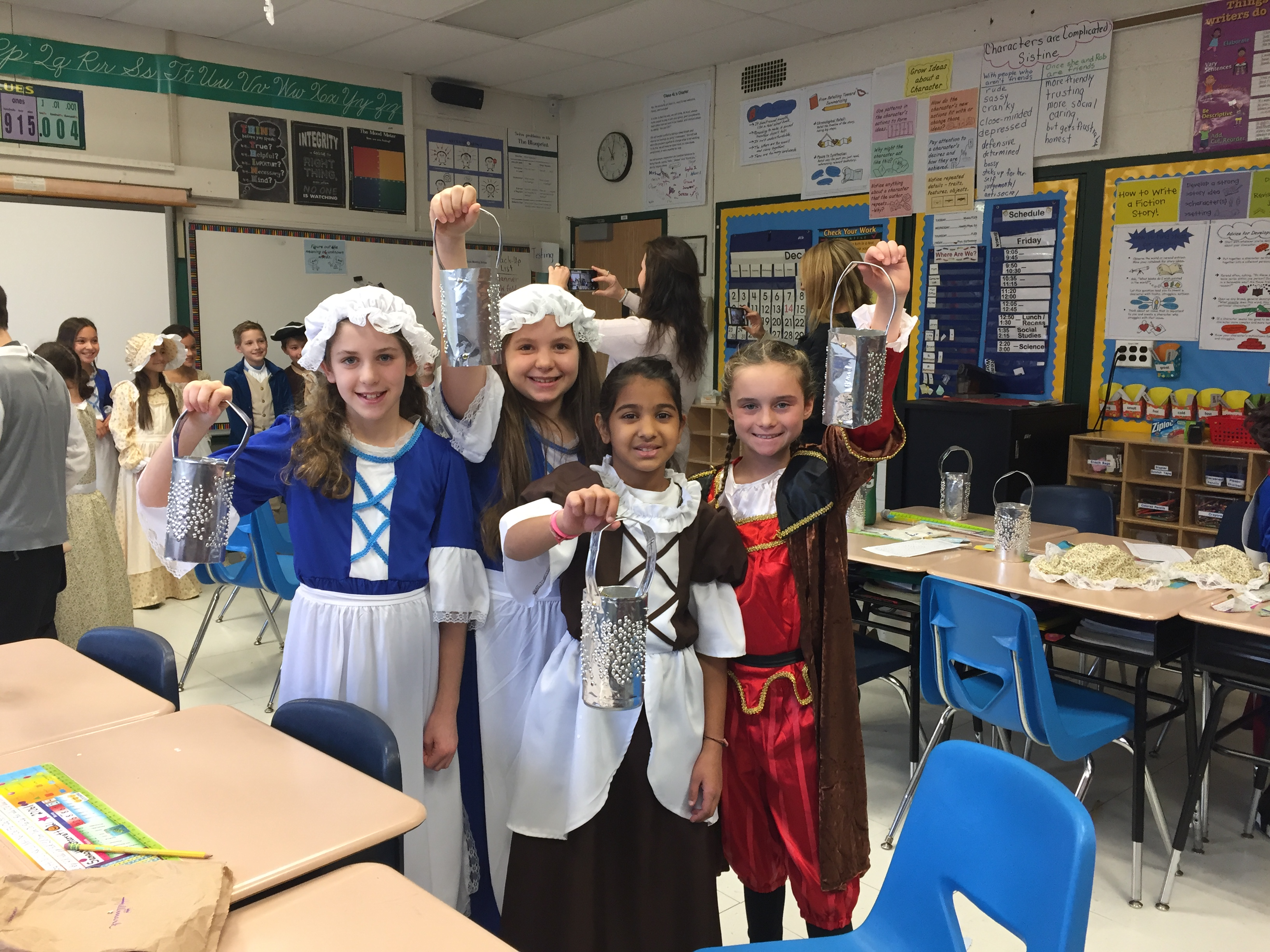 WS Colonial Day - Making Tin Lanterns